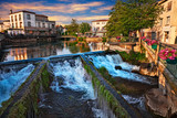 L'Isle-sur-la-Sorgue, Vaucluse,.France: landscape at dawn of the town surrounded of the water canals