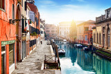 Old street in Venice, Italy. Venice cityscape