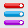 Web colored buttons. Oval interface icons