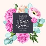 Vintage wedding invitation - 207505917