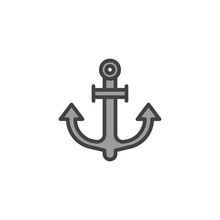 Anchor Filled Outline Icon Line  Sign Linear Colorful Pictogram   Marine Anchor Symbol Logo Illustration Pixel Perfect  Graphics Sticker