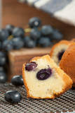 Home Baked Italian Cake With Grape.