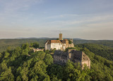 Aerial view of the Wartburg castle near the town of Eisenach - 207515504