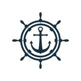 Ship wheel and anchor design