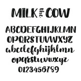 Milk the Cow-handwritten font