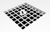 White Surface Cage Pit - 207528903