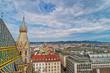 Leinwanddruck Bild - Wien vom Stephansdom