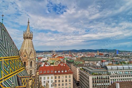 Leinwanddruck Bild Wien vom Stephansdom