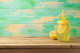 Summer background with refreshing drink