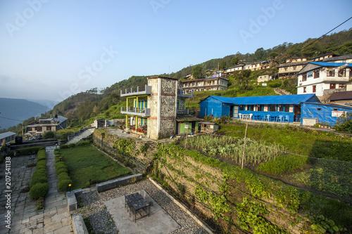 Canvas Blauwe hemel Häuser Chandruk
