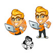 Hacker Guy Mascot Design Vector - 207543509