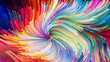 Leinwanddruck Bild - Colorful Paint Unfolding