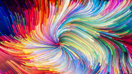 Colorful Paint Unfolding