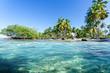 Leinwanddruck Bild - Lebensfreude, Ferien, Tourismus, Sommer, Sonne, Strand, Meer, Glück, Entspannung, Meditation: Traumurlaub an einem einsamen, karibischen Strand :) Nachricht an den