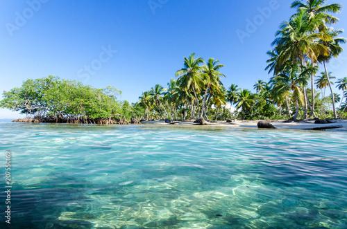 Leinwanddruck Bild Lebensfreude, Ferien, Tourismus, Sommer, Sonne, Strand, Meer, Glück, Entspannung, Meditation: Traumurlaub an einem einsamen, karibischen Strand :) Nachricht an den