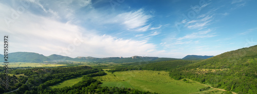 Aerial fields and meadow panorama - 207552972