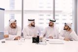 Group of businessmen in Dubai - 207558532