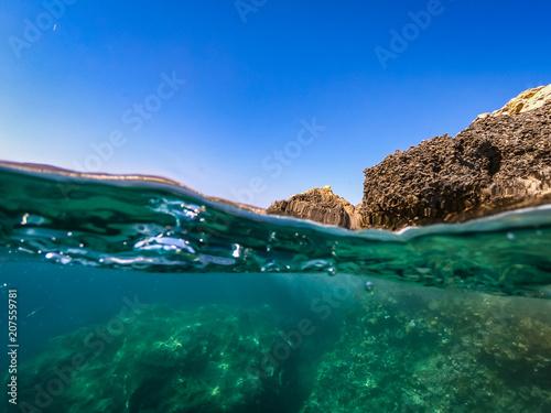 Fotobehang Groen blauw Under Waterworlds
