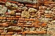 Detail of rock and brick wall