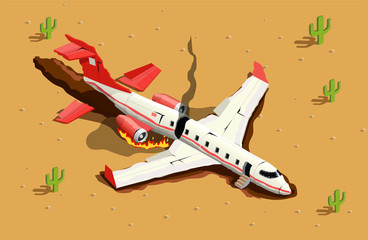 Aircraft Desert Crash Composition