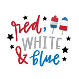 Red white and blue popsicle