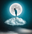 Admire the moon - 207583333