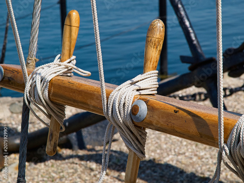 Fotobehang Zeilen Sails ropes pulley sailing background image