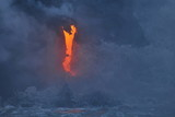 The lava of Kilauea volcano flows into the Pacific Ocean - 207601576