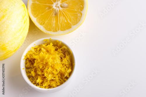 Aluminium Sap Lemon and juice on a white background