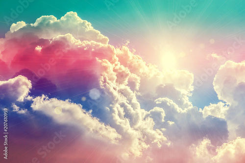Beautiful blue sky - 207610959