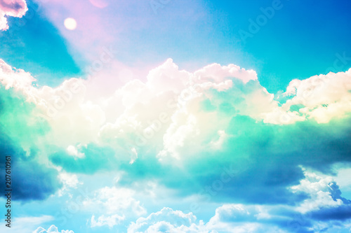 Beautiful blue sky - 207610961