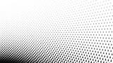 Triangular halftone background. Geometrical black and white card. Vector illustration. - 207613939