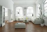 modern bright skandinavian interior design living room - 207624762