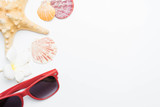 summer beach accessories on white - 207636913