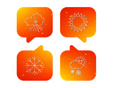 Weather, sun and snow icons. - 207638955