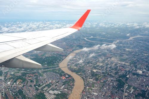 Aluminium Bangkok on the plane over bangkok