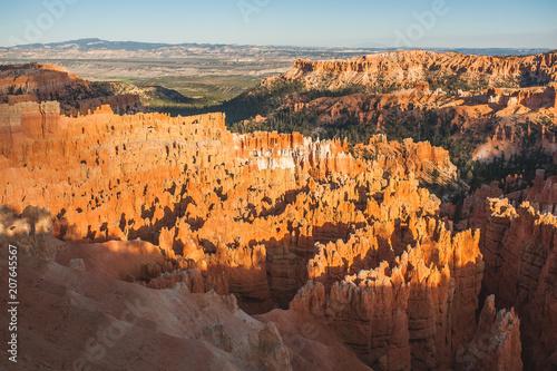 Plexiglas Diepbruine The incredible terrain of Bryce Canyon in Utah