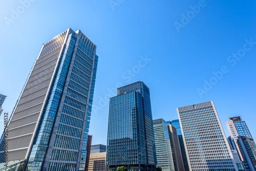 Fotobehang Tokio 丸ノ内の高層ビル群 High-rise building in Tokyo