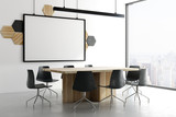 Modern meeting room with banner - 207653134