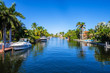 Leinwanddruck Bild - Waterfront community in South Florida