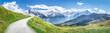 Leinwandbild Motiv Schweizer Alpen Panorama im Sommer