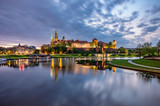 Wawel Castle in Krakow, Poland, seen from the Vistula boulevards in the morning - 207675901