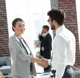 welcome and handshake business partners - 207678751