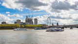 Ships on River Thames in London