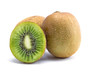 Sliced kiwi texture on white background - 207688955