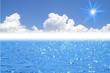 夏の空と太陽と海(背景)