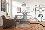 Modern Retro Style Furnishing (conception)