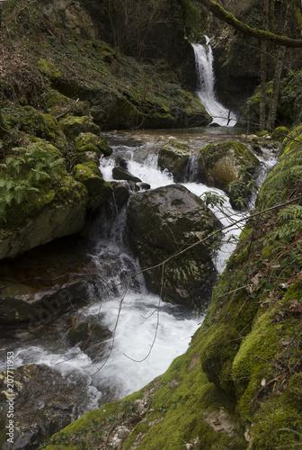 Fotobehang Bergrivier detail of waterfall on morcone sassinoro