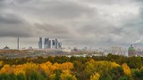 Timelapse of Moscow city at autumn day - 207712993