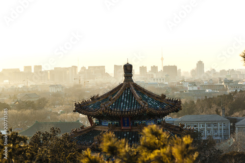 Plexiglas Peking View from Jingshan park, Beijing